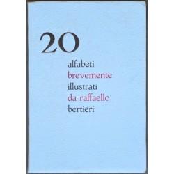20 alfabeti brevemente illustrati da raffaello bertieri