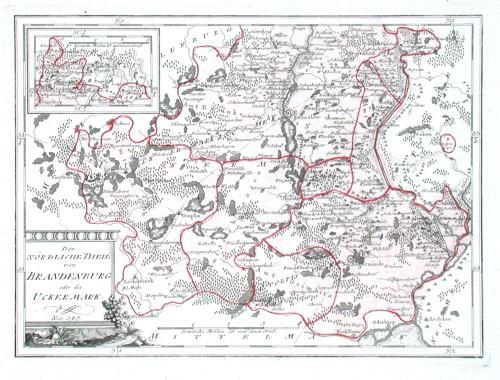 Der Nördliche Theil von Brandenburg oder die Uckermark. Nro. 349. - Antique map