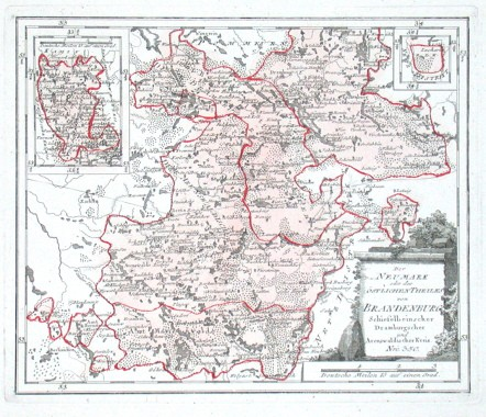 Der Neumark oder des östlichen Theiles von Brandenburg Schiefelbeinscher Dramburgscher und Arenswaldischer Kreis. Nro. 350.