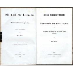 Die maskirte Literatur