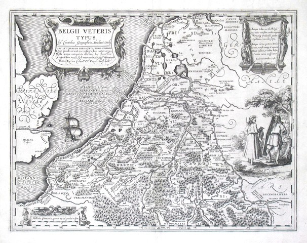 Belgii Veteris Typus - Antique map