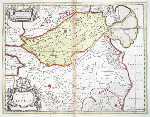 Polesino di Rovigo - Alte Landkarte